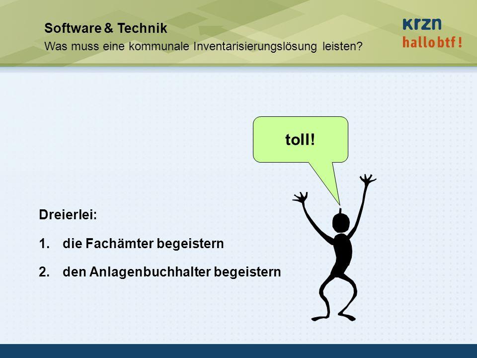 toll! Software & Technik Dreierlei: die Fachämter begeistern