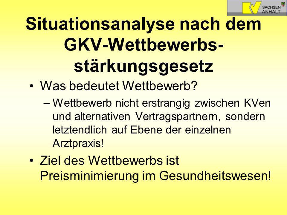 Situationsanalyse nach dem GKV-Wettbewerbs-stärkungsgesetz