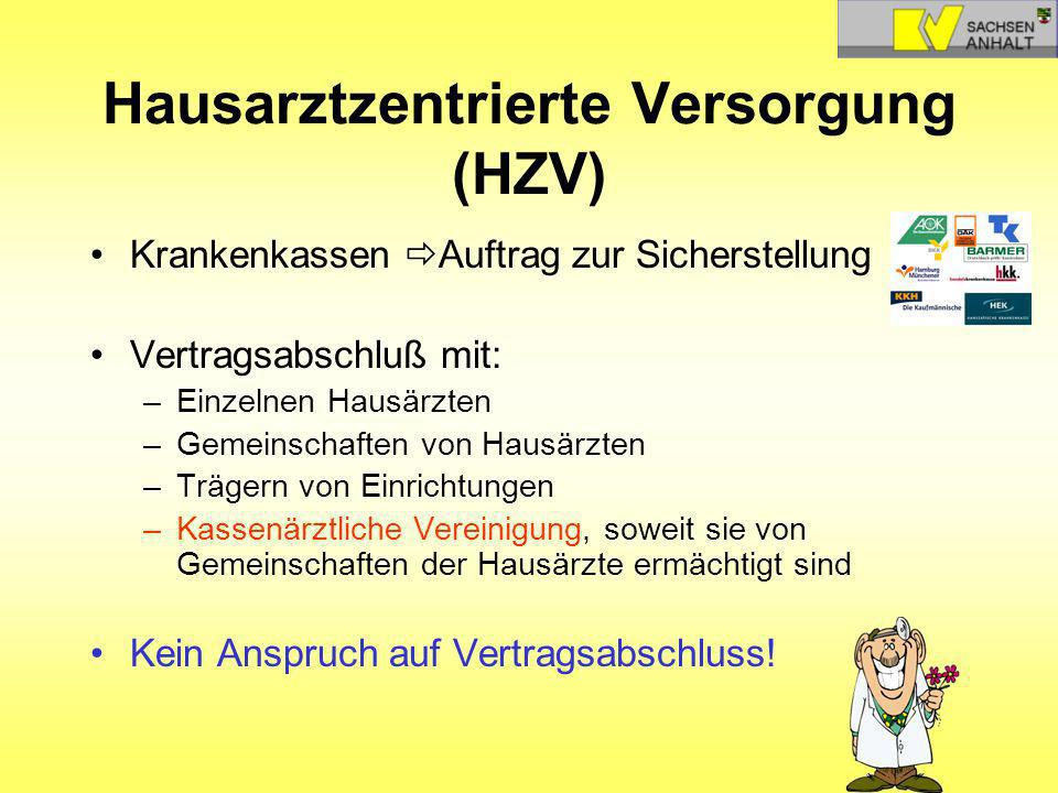 Hausarztzentrierte Versorgung (HZV)