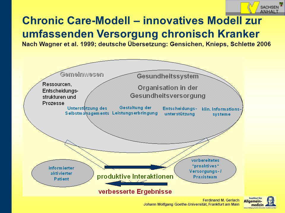 Chronic Care-Modell – innovatives Modell zur umfassenden Versorgung chronisch Kranker