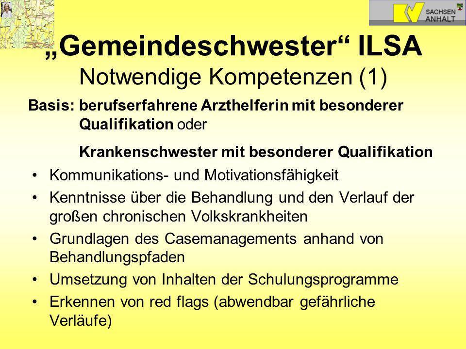 """""""Gemeindeschwester ILSA Notwendige Kompetenzen (1)"""