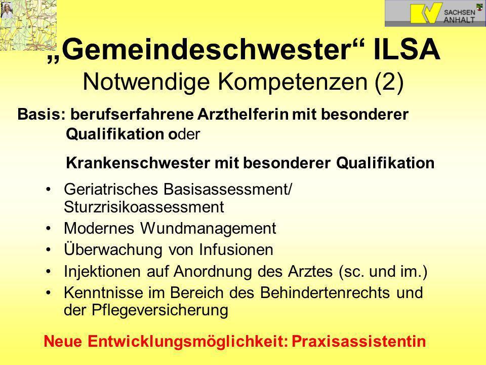 """""""Gemeindeschwester ILSA Notwendige Kompetenzen (2)"""