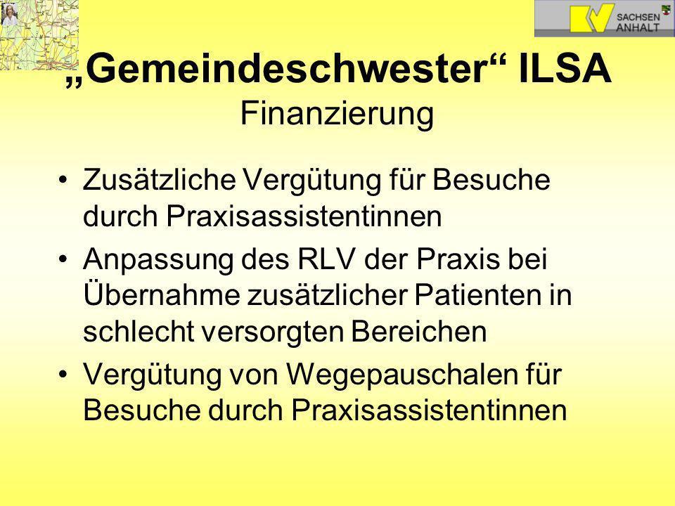 """""""Gemeindeschwester ILSA Finanzierung"""