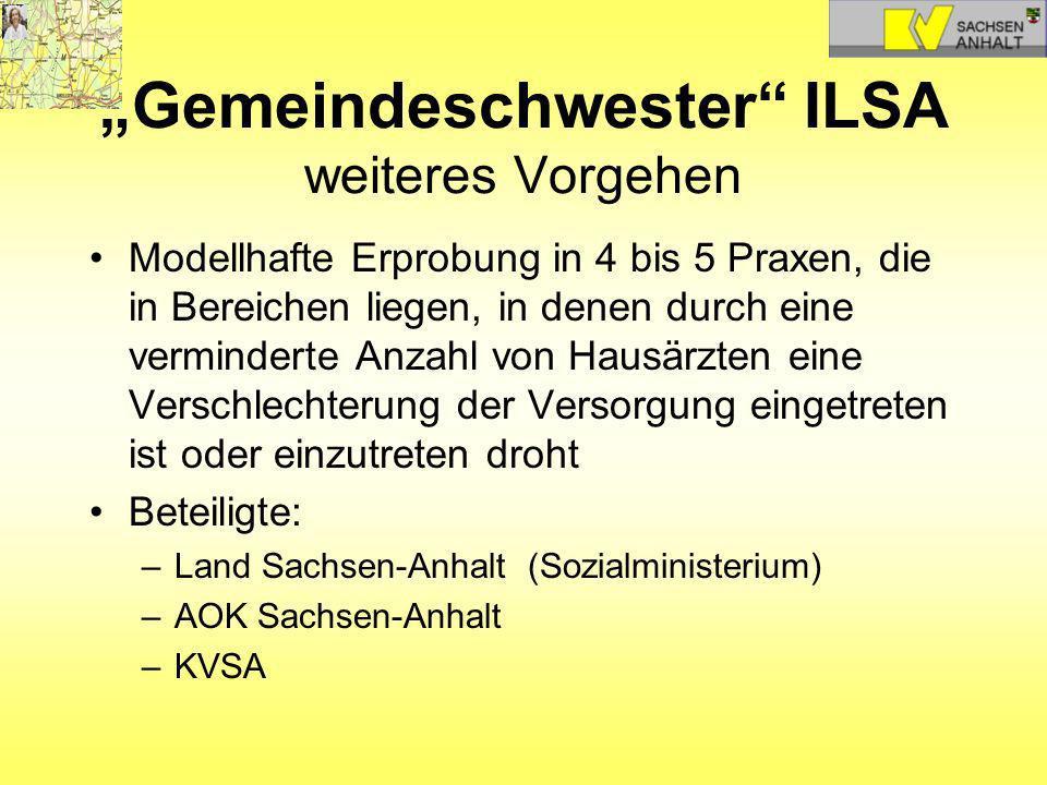 """""""Gemeindeschwester ILSA weiteres Vorgehen"""