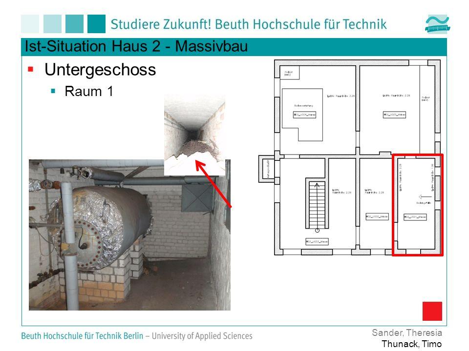 Untergeschoss Ist-Situation Haus 2 - Massivbau Raum 1 Sander, Theresia