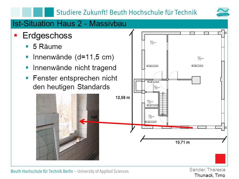 Erdgeschoss Ist-Situation Haus 2 - Massivbau 5 Räume