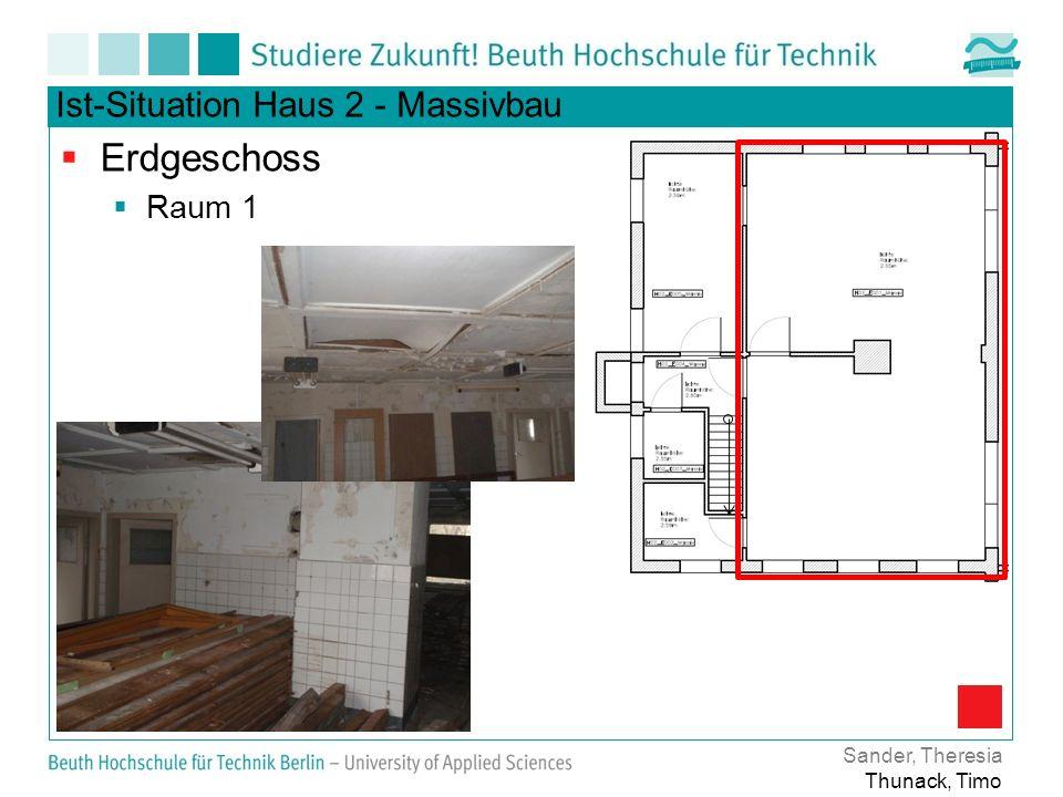 Erdgeschoss Ist-Situation Haus 2 - Massivbau Raum 1 Sander, Theresia