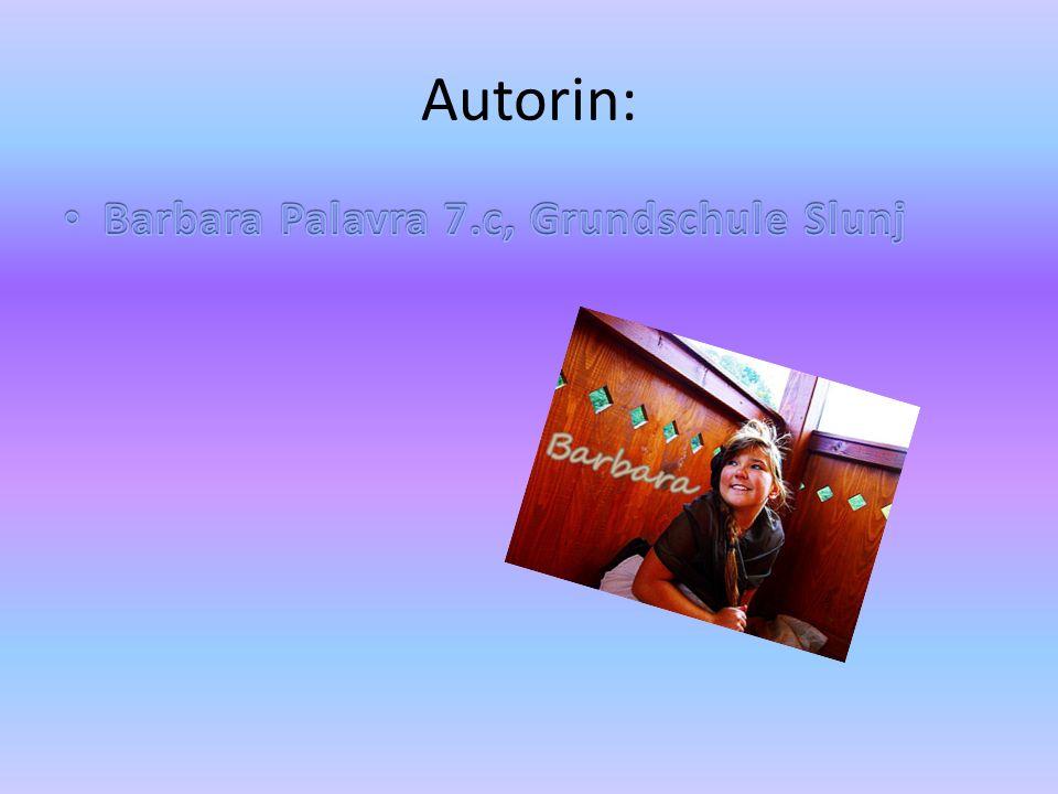 Autorin: Barbara Palavra 7.c, Grundschule Slunj