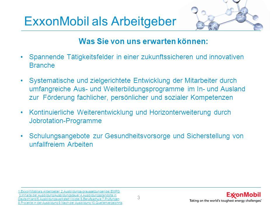 ExxonMobil als Arbeitgeber