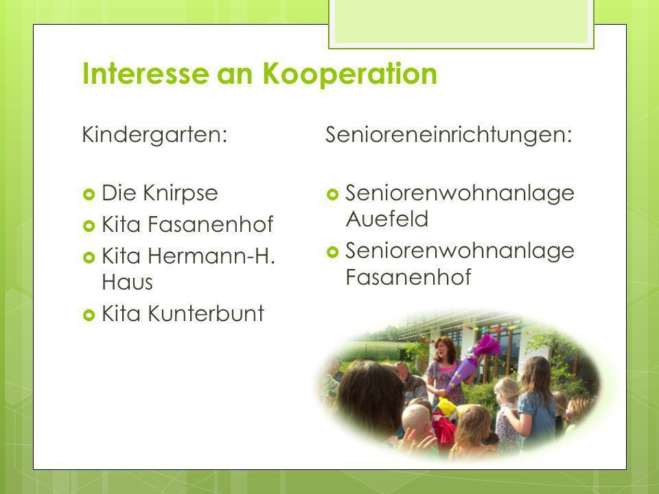 Interesse an Kooperation