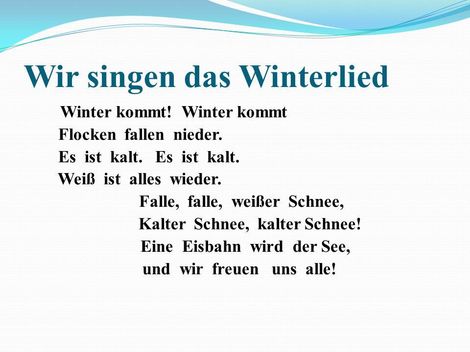 Wir singen das Winterlied