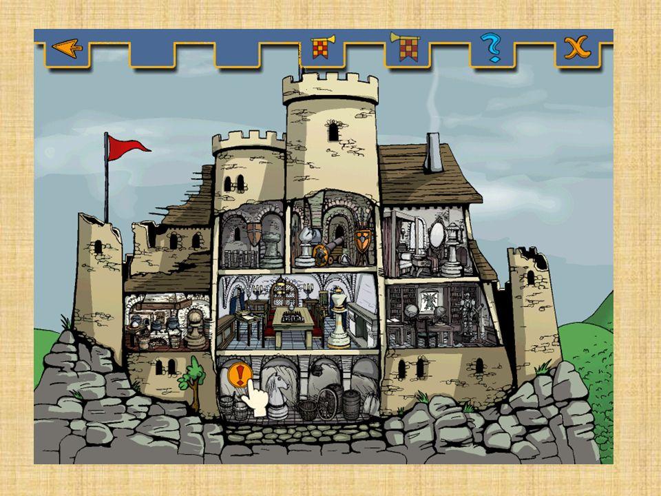 Menschen in der Burg Burgherr Burgherrin