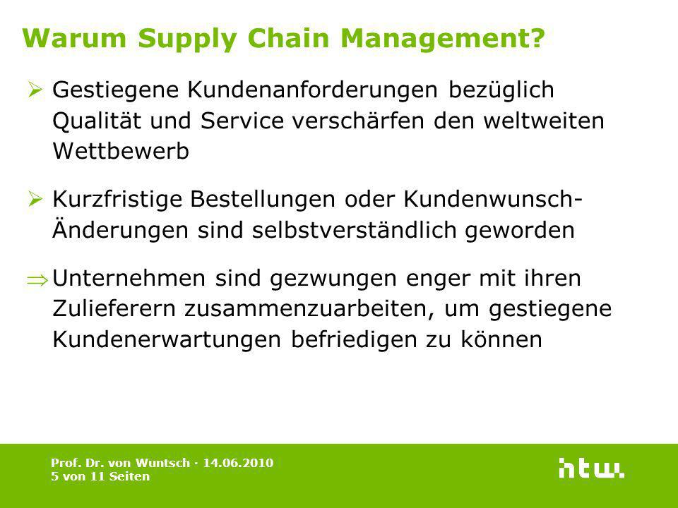 Warum Supply Chain Management