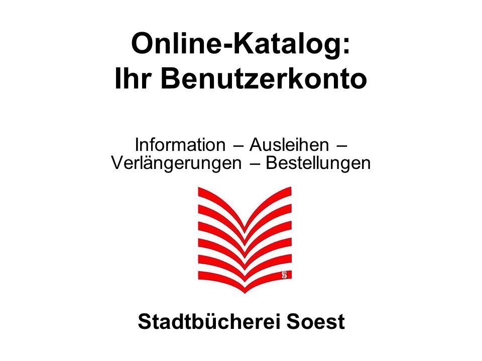 Online-Katalog: Ihr Benutzerkonto