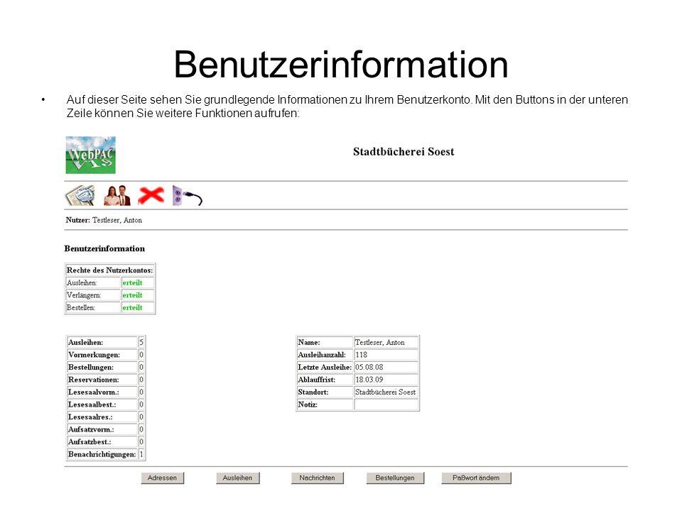 Benutzerinformation