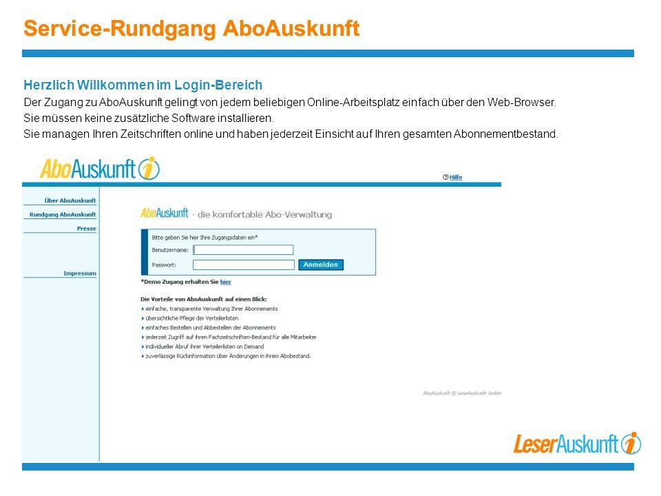 Service-Rundgang AboAuskunft