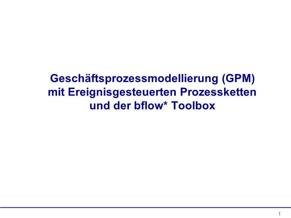 Geschäftsprozessmodellierung (GPM) mit Ereignisgesteuerten Prozessketten und der bflow* Toolbox
