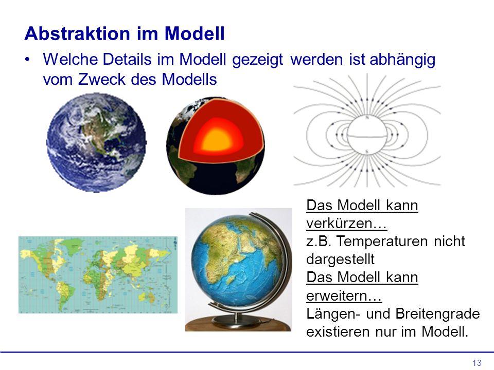 Abstraktion im Modell Welche Details im Modell gezeigt werden ist abhängig vom Zweck des Modells. Das Modell kann verkürzen…