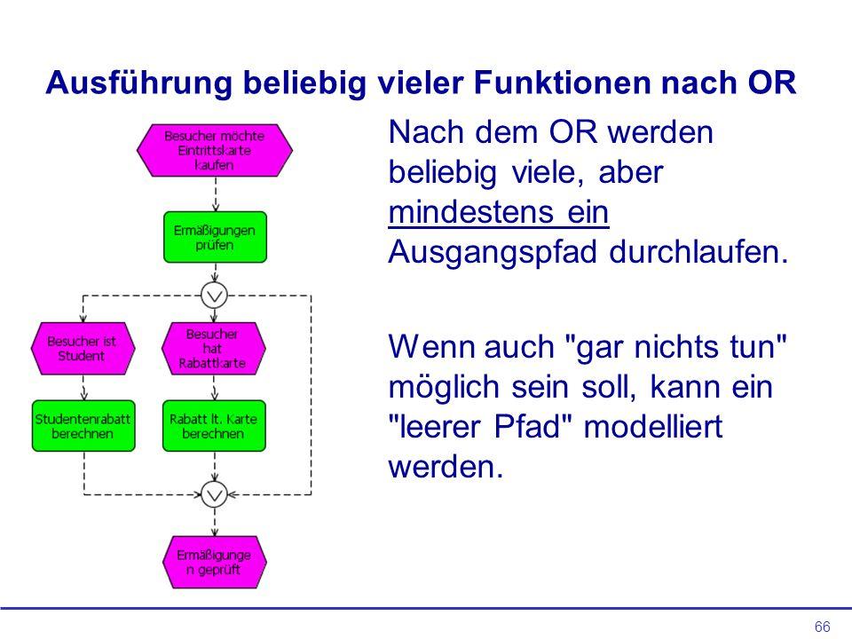 Ausführung beliebig vieler Funktionen nach OR