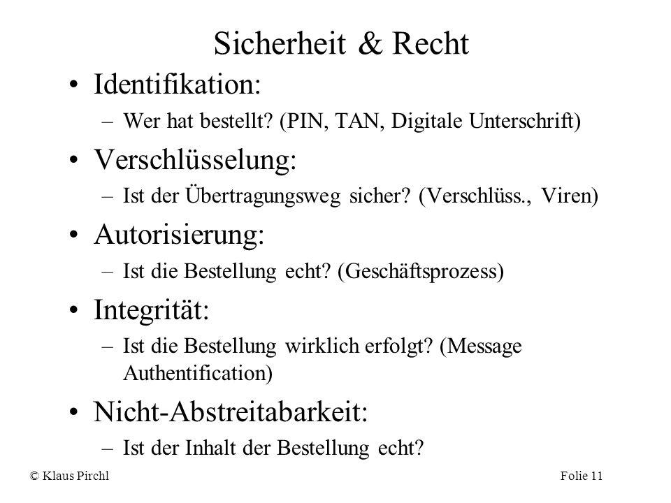 Sicherheit & Recht Identifikation: Verschlüsselung: Autorisierung: