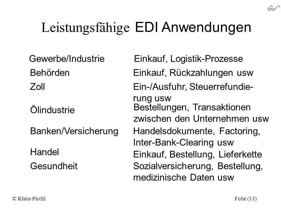 Leistungsfähige EDI Anwendungen