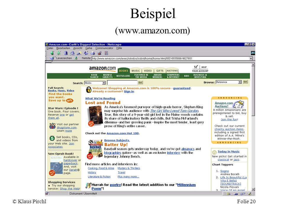 Beispiel (www.amazon.com) © Klaus Pirchl Folie 20