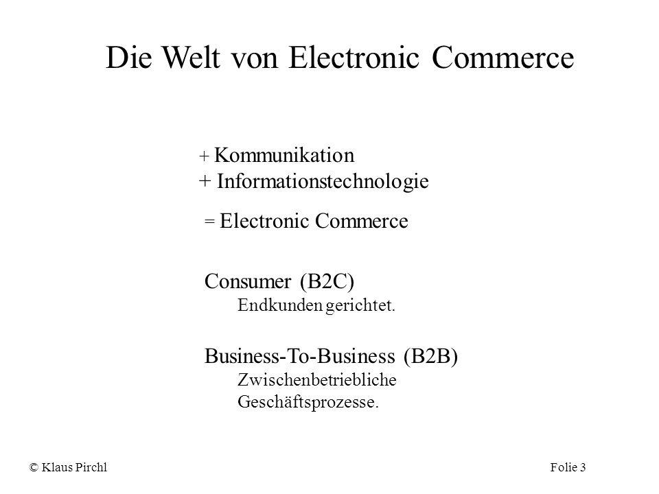 Die Welt von Electronic Commerce