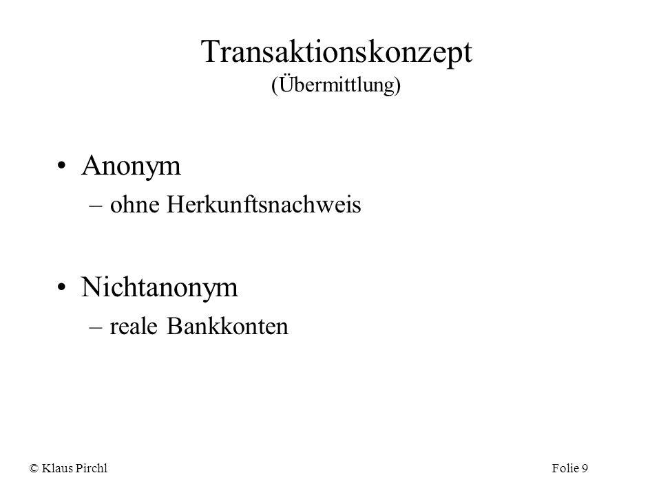 Transaktionskonzept (Übermittlung)