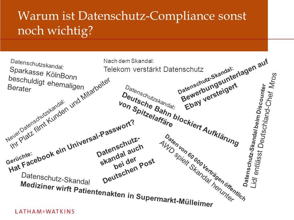 Warum ist Datenschutz-Compliance sonst noch wichtig
