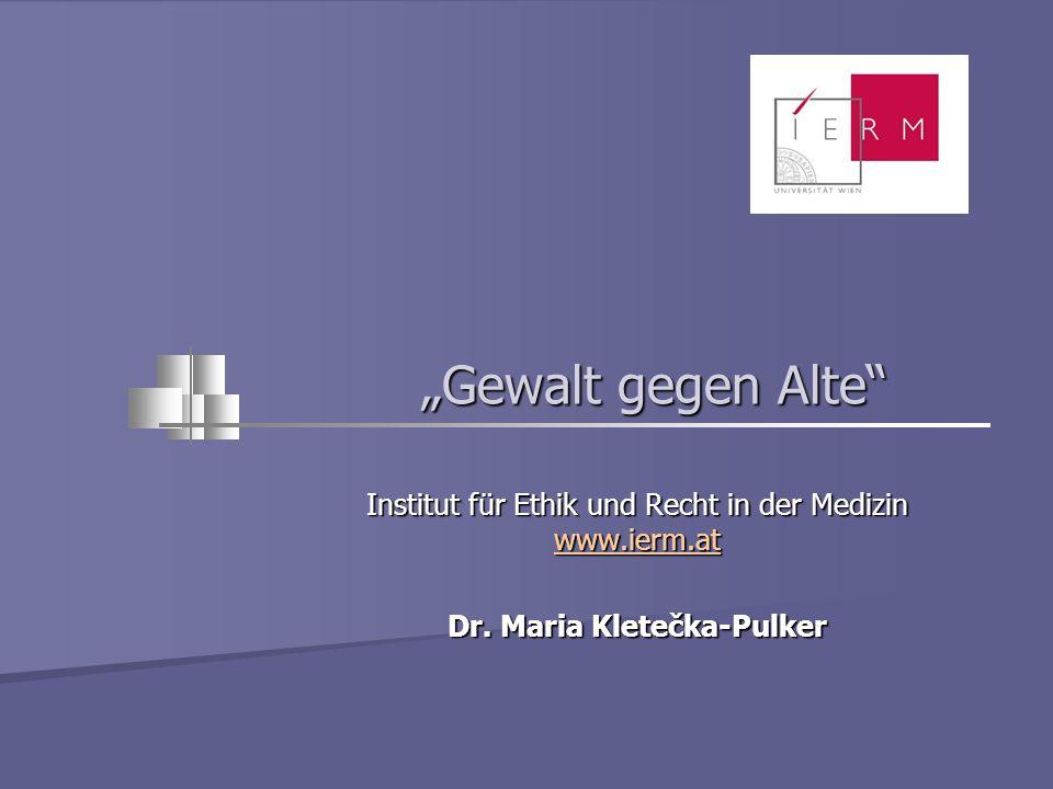 Dr. Maria Kletečka-Pulker