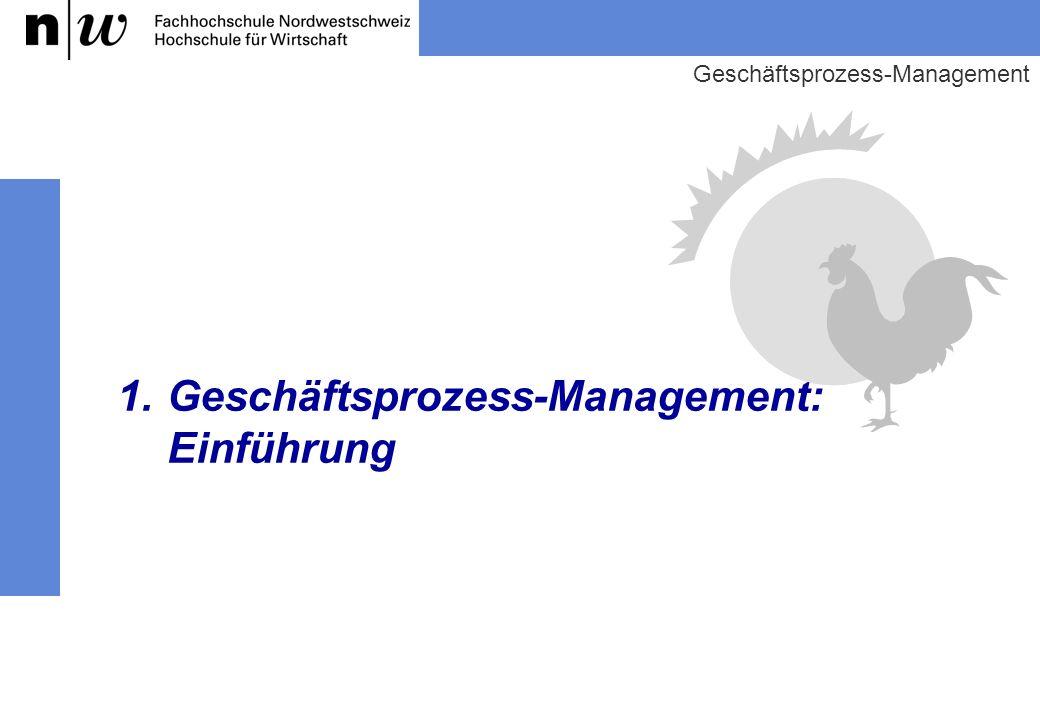 1. Geschäftsprozess-Management: Einführung