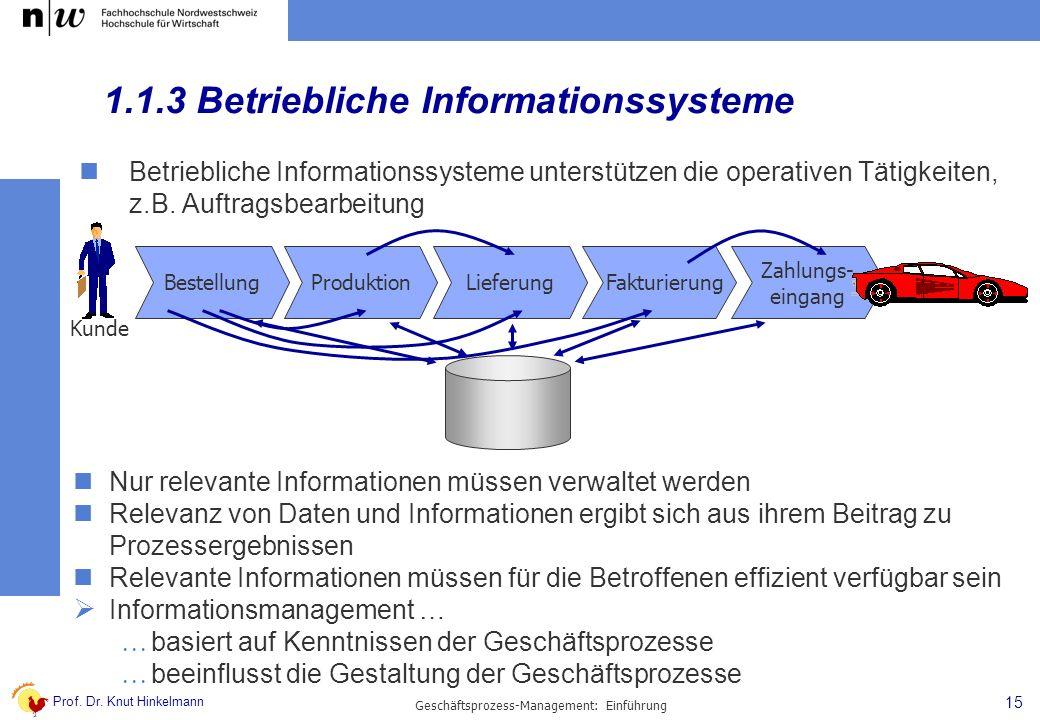 1.1.3 Betriebliche Informationssysteme