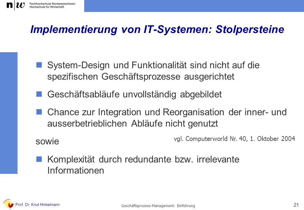 Implementierung von IT-Systemen: Stolpersteine