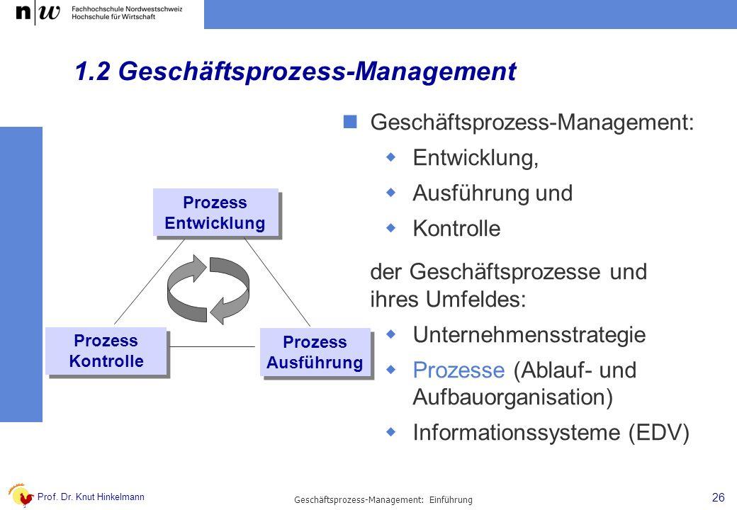 1.2 Geschäftsprozess-Management
