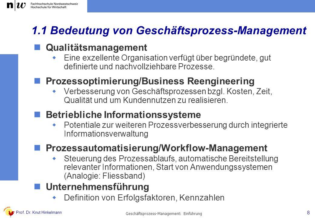 1.1 Bedeutung von Geschäftsprozess-Management