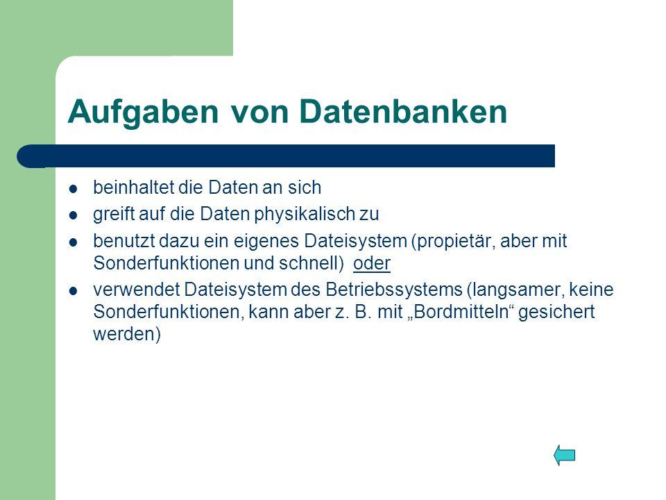 Aufgaben von Datenbanken
