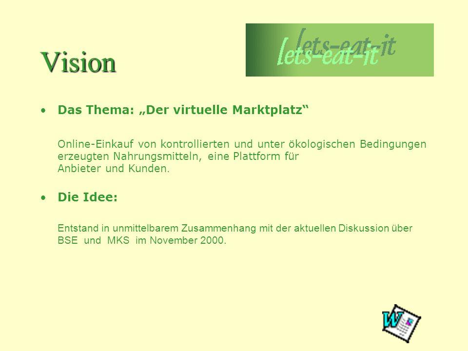"""Vision Das Thema: """"Der virtuelle Marktplatz"""