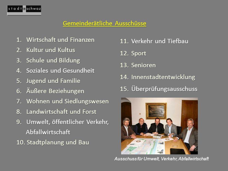 Gemeinderätliche Ausschüsse