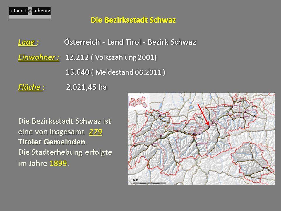 Die Bezirksstadt Schwaz