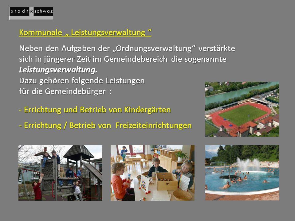 """Kommunale """" Leistungsverwaltung"""