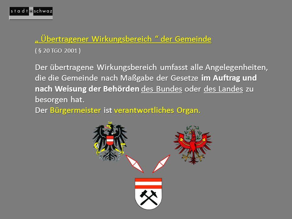 """"""" Übertragener Wirkungsbereich der Gemeinde"""
