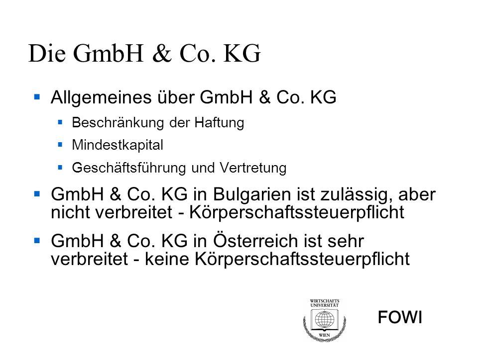 Die GmbH & Co. KG Allgemeines über GmbH & Co. KG