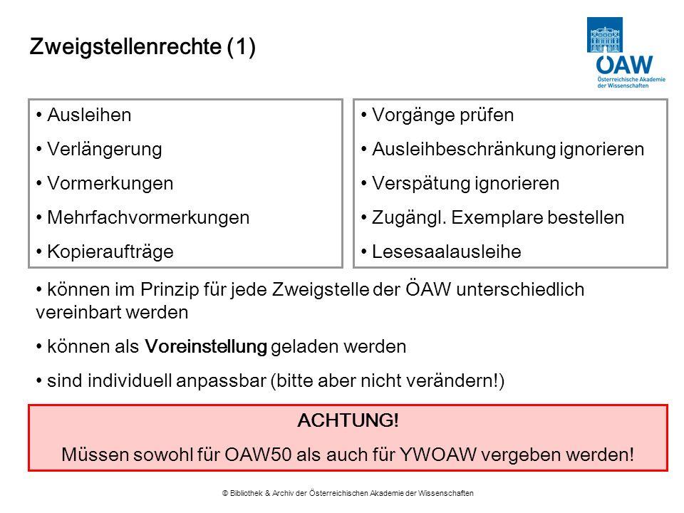 Zweigstellenrechte (1)