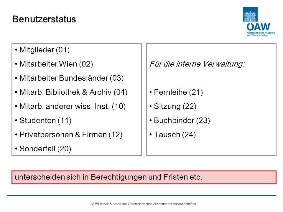 Benutzerstatus Mitglieder (01) Mitarbeiter Wien (02)