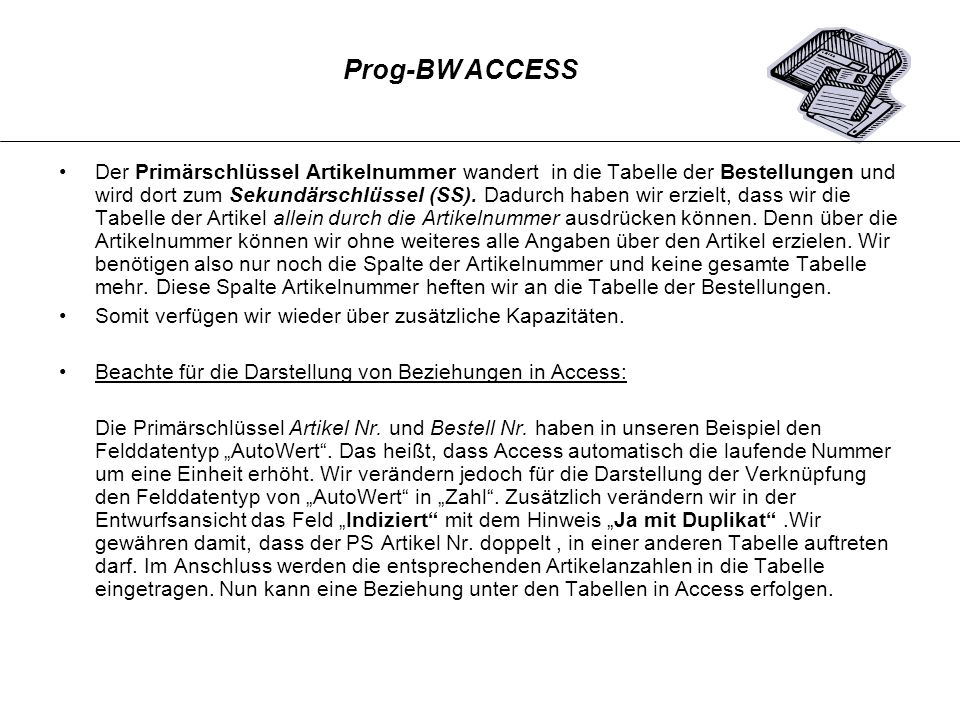 Prog-BW ACCESS