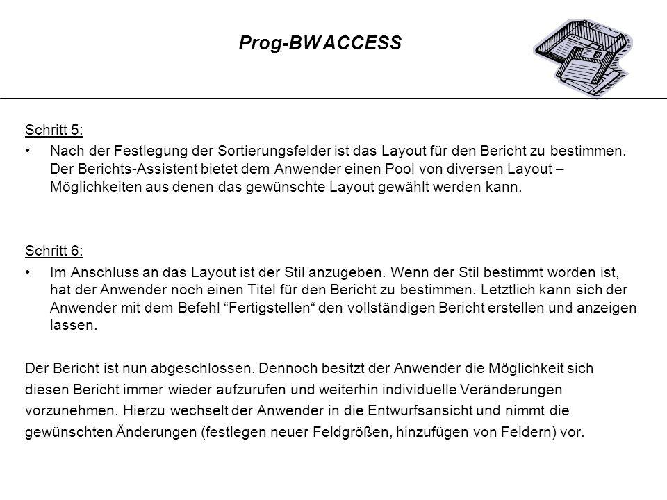 Prog-BW ACCESS Schritt 5: