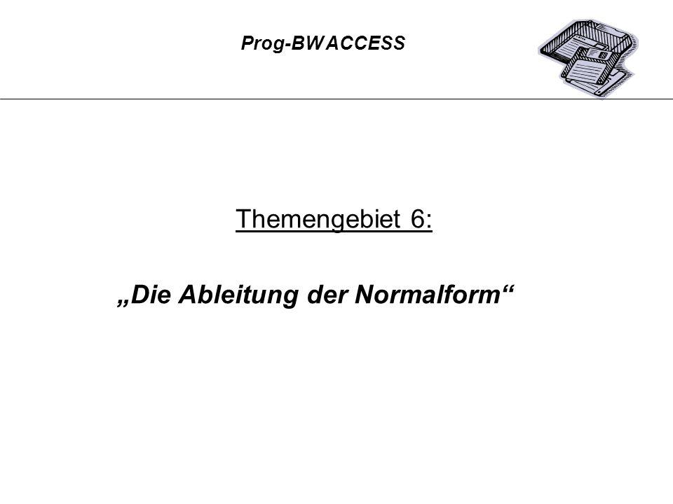 """""""Die Ableitung der Normalform"""