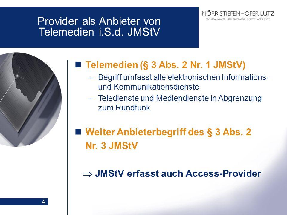  JMStV erfasst auch Access-Provider