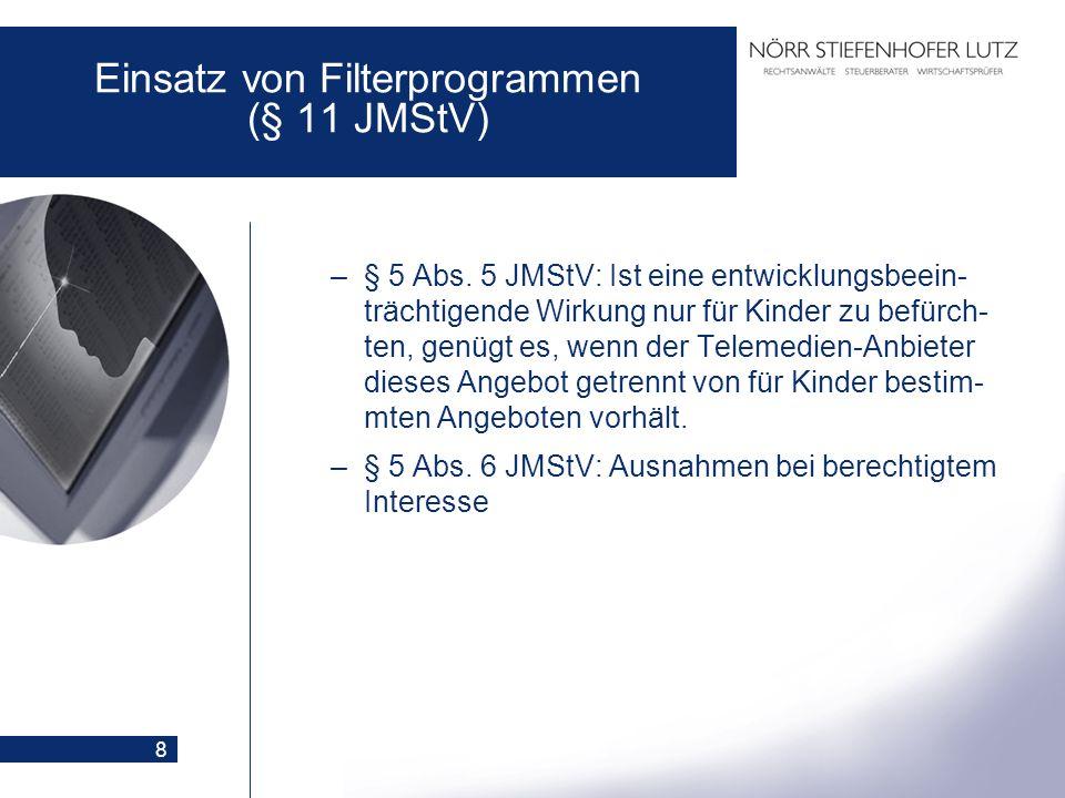 Einsatz von Filterprogrammen (§ 11 JMStV)