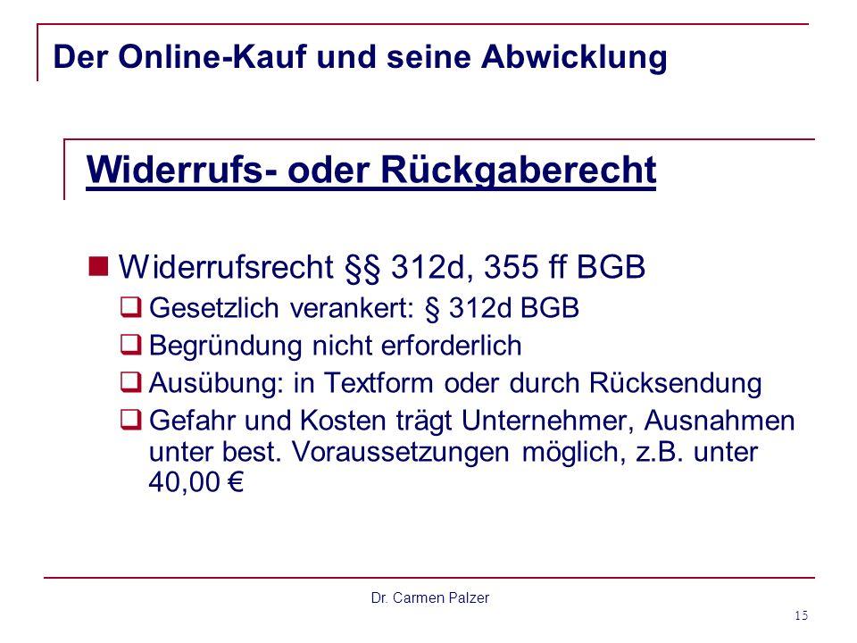 Der Online-Kauf und seine Abwicklung